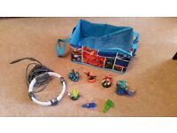 Skylanders starter pack plus carry case and extra figures for Xbox 360