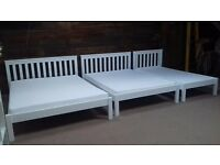 New solid beds double, kingsize. Closing down sale. Free delivery in Plymouth