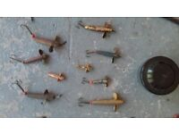 Rods reels and assorted fishing gear