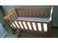 Saplings glider baby crib