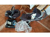 Mamas & Papas Baby and child Travel System - Car base + car seat + push chair + Rain cover + Liner