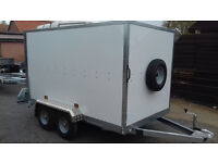 Box / Karting Trailer Tickners GT 9' x 5' x 5' in White with Barn Doors