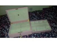 RRP £615, Aspinal Grand Luxe baby pink jewellery case, large, lock and key