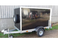 Box Trailer 7 x 4 x 5 Tickners Box Trailer in Black