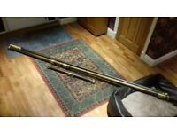 3 Mahoney Curtain poles with brass fixings
