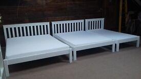 New solid beds double, kingsize. Closing down sale. Free delivery in Swindon