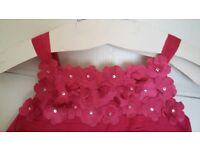 Beautiful pink Monsoon special occaision dress (age 4-5) with hand-stiched sequin detail