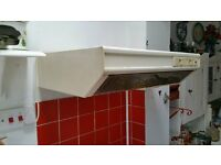 White traditional cooker hood in perfect working order