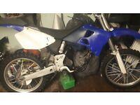 Yamaha yz250 1998 breaking