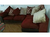 Right Hand Corner Unit, 2 Chairs and 1 Footstool For Sale