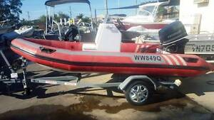 4.2m RIGID INFLATABLE, Hypalon (boat and trailer combo) Paradise Point Gold Coast North Preview
