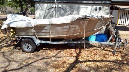 Stessel 4.2 m on dunbar gav trailer 40hp vortex 35hr work  Lee Point Darwin City Preview