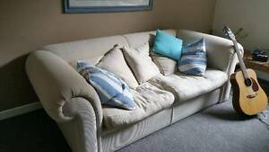 Sofa 3 seat cream Narraweena Manly Area Preview