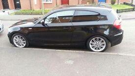 BMW M Sport 1 Series (2010) 59 Plate. Black. 3 door.