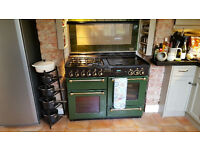 Rangemaster 110 Gas Cooker, Kitchen Range, 2 ovens, seperate grill, 4 gas rings