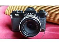 Pentax ES 35mm SLR with Carl Zeiss Tessar 50m/2.8 Jena DDR Zebra stripe Lens