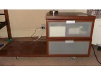 Two bedside cabinets with under bed shelf - FREE