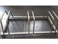 Galvanised steel 3 Bike Rack