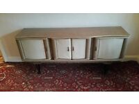 60s Retro- padded Sideboard, Table & 6 Chairs -