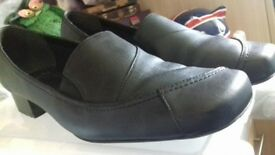 Clarks Black low heel shoes - Size 8 Brand new condition worn once.