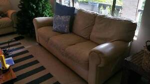 3 seat leather sofa Narraweena Manly Area Preview