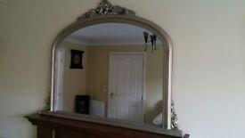 Large mirror.
