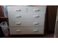 Vintage, Painted, Solid, Chest of Drawers