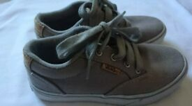 Boys Vans, grey size 12. Great condition