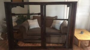 Pine bedframe stained dark walnut