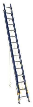 Werner D8228-2Eq 28 Ft Fiberglass Extension Ladder, 300 Lb Load Capacity