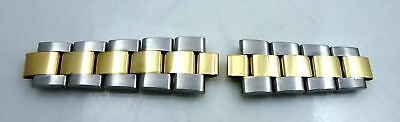 Rolex Watch Band 9 Bracelet links NOS 18k & S/S 19mm Date 78353 parts 15033 1501