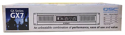 Lightweight Stereo Power Amplifier - QSC GX7 Lightweight Rackmount Stereo Power Amplifier 725W/Channel @ 8 Ohms NEW