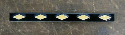 Vintage Tile Liner Yellow Diamonds on Black