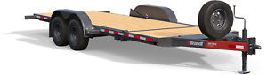 Brandt 20' Tilt Deck Trailer: 6-Ton Series Bumperpull