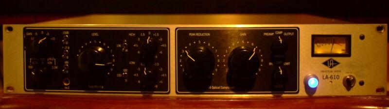 Universal Audio LA-610 Analog Preamp/Compressor, Silverface, Good Condition