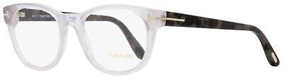 Tom Ford Round Eyeglasses TF5433 020 Transparent Grey/Grey Melange 53mm (Round Glasses Transparent)