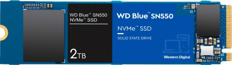 WD - Blue SN550 NVMe 2TB Internal PCI Express 3.0 x4 Solid State Drive with 3...