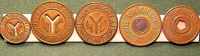 NewYorkCity NYC Subway Tokens Full Set of Five