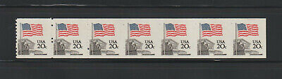 US ERROR Stamps: #1895d Flag Court. Imperf transition strip w/grippers! MNH