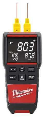 MILWAUKEE 2270-20 Thermocouple Thermometer,2 Input