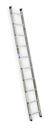 Werner D1510-1 Ladder, 10 Ft.  H, 18-1/8 In W, Aluminum