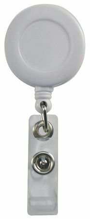Zoro Select 25Du68 Badge Reel Retractable W/Clip Wh,Pk10