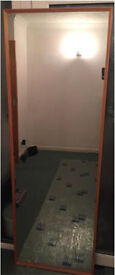 Very Large mirror door size horizontal or vertical was on a wall paint/change colour