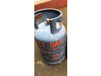 Gas bottle Butane 13kg almost full with Gas Regulator