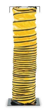 ALLEGRO 9500-25 Blower Ducting,25 ft.,Black/Yellow