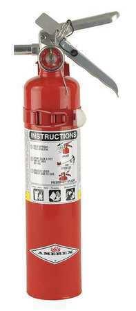 AMEREX B417T Fire Extinguisher, 1A:10B:C, Dry Chemical, 2.5 lb