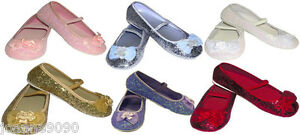 GIRLS-KIDS-GLITTER-PARTY-WEDDING-FLOWER-GIRL-BRIDESMAID-SHOES-PUMPS-SIZE-6-1