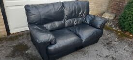 Leather 2 Seater Sofa, VGC