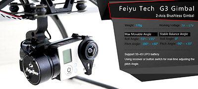 FeiYu Tech FY-G3 2-Axis Brushless Gimbal for DJI Wraith 1 & 2 GoPro Camera USA