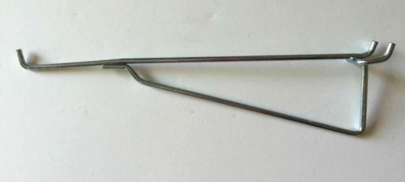 """Brand New Metal Peg Hook Steel Shelf Brackets for 1/8"""" 1/4"""" Pegboard & Slatwall"""